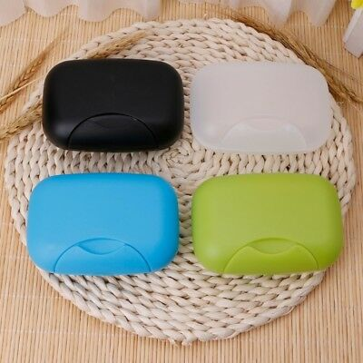 Portable Travel Soap Dish Box Case Holder Container Bathroom Shower Outdoor Home