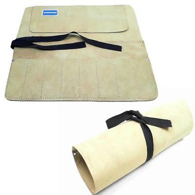 Quality Leather Tool Or Chisel Roll Split Suede 8 Pockets Carpenters Joiners