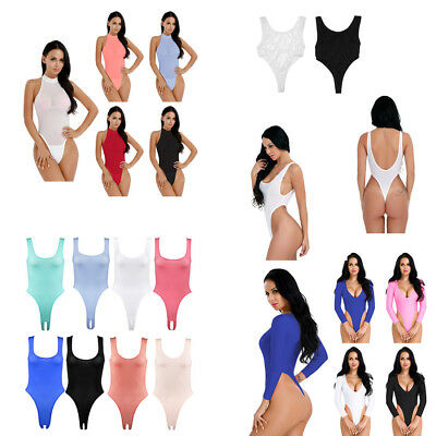 Sexy Women Lingerie High Cut One Piece Thong Leotard Bodysuit Swimwear Jumpsuit