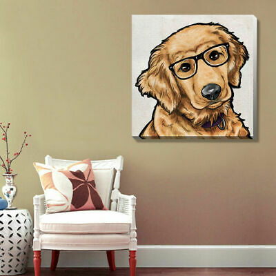 Cute Puppy Dog Pets Stretched Canvas Print Framed Wall Art Home Office Decor DIY