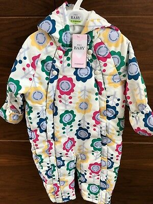 M & S Baby Cream & Floral Pattern Snow Suit 0 - 24 Months & 2-3 Years Brand New