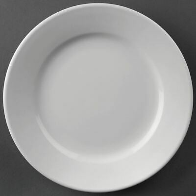 12 X Athena Hotelware Wide Rimmed Dinner Plates Service Porcelain Tableware