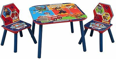 Delta Children Paw Patrol Kids Wooden Table and 2 Chairs Set