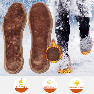 Warm Fleece Cashmere Soft Wool Thermal Insoles Winter Shoes Inserts Pads 36-44