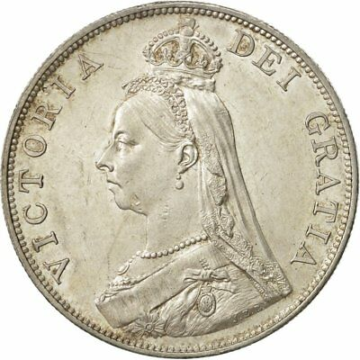 [#480946] Great Britain, Victoria, Double Florin, 1889, MS(60-62), Silver