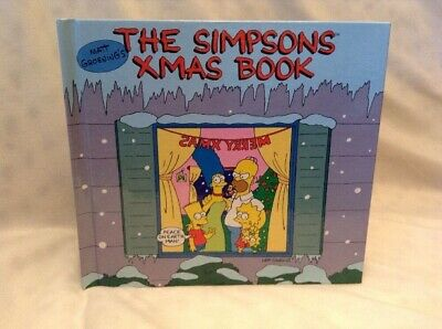 The Simpsons Xmas Book 1990 First Edition Hardcover Matt Groening Christmas