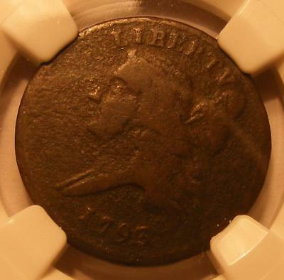 1793 Half Cent NGC VF Details, Corrosion - Nice Brown Color