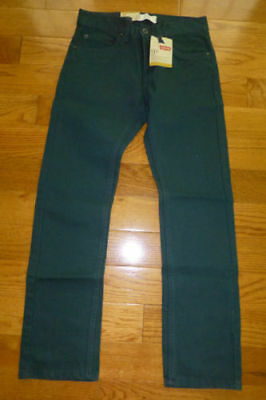 Levis 511 Slim Fit Slightly Tapered Jeans Boys Deepest Spruce Bedford Cord $42