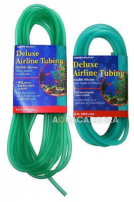 Penn Plax Silicone Airline 8ft / 20ft Green Airline for Aquarium Air Pump Tanks