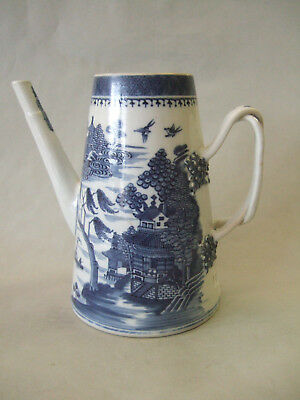 Chinese export B/W light house coffee pot c.1790