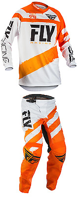2018 Fly Racing F-16 MX ATV Pant and Jersey Combo - Orange/White
