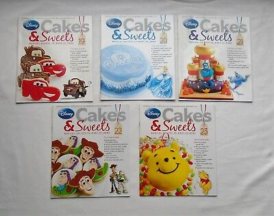 Job Lot 5 Disney Cakes & Sweets Magazines Only Issues 19 to 23 - NO MOULDS