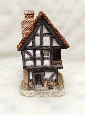 """SPINNERS COTTAGE 1984 David Winter """"The Spinner's Cottage"""" Hand Made & Painted"""