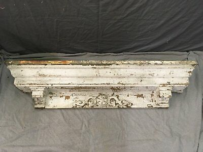 Antique Pediment Header Corbel Mantel Shelf Vtg Shabby Victorian Chic 771-17E