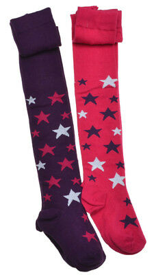 2 pairs of Stars Design Baby Tights - Age 18-24 months