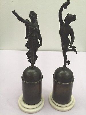 Antique Pair French Empire Style Winged Figures