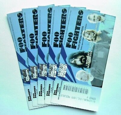 FOO FIGHTERS TICKETS Unused Stub(s) Manchester City Stadium 02/06/08 Memorabilia