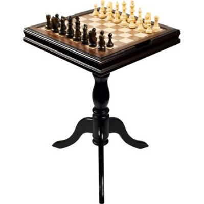 ELEGANT CHESS Set Multi-Game Room Table Board Top Furniture Wood ...