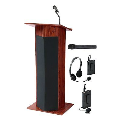 Norwood Commercial Stand-Up Lectern w/ Sound & Cordless Mic, NOR-DOU111PLS <601>