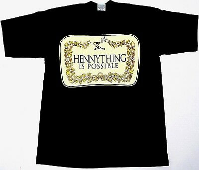 8d9758f0 HENNYTHING IS POSSIBLE T-shirt Henny Congnac Streetwear Tee Adult Men New