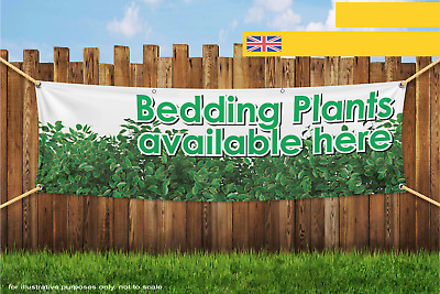 Bedding Plants Available Here Heavy Duty PVC Banner Sign 2192