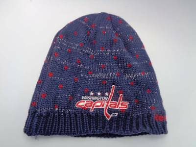 Washington Capitals Reebok NHL Knit Hat Cap Toque Beanie Womens OSFA Hearts  Spar fe4f34494af8