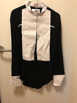"""Mens Crystal Clover Ballroom Competition Shirt Size16.5"""""""