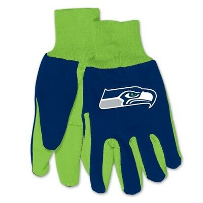 Seattle Seahawks Two Toned Team Colors Sport Utility Gloves Winter Summer NWT