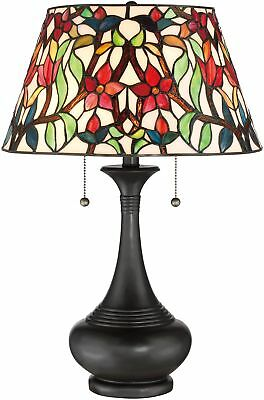 Tiffany Style Stained Glass Table Lamp Desk Art Deco Mission Floral Victorian