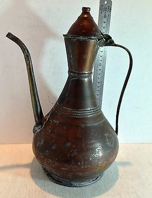 Antique Copper Hot Water Pitcher Jug (2903)