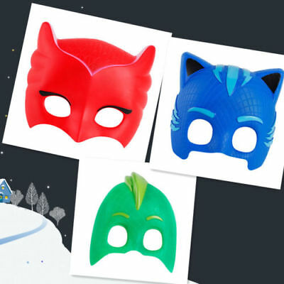 Hot Superhero PJ Masks Cape Costume  Kids Set Catboy Xmas Gift