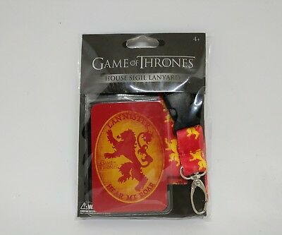 Game of Thrones House Lanister Sigil lanyard HBO