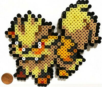Arcanine Pokemon Bead Sprite Perler Art Menu Icon