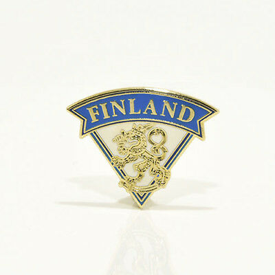 Ice Hockey Federation of Finland pin, badge, lapel, hockey