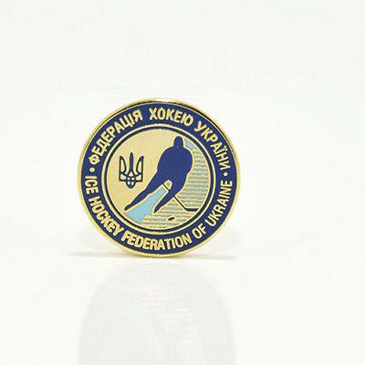 Ice Hockey Federation of Ukraine pin, badge, lapel, hockey