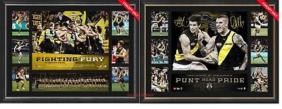 Richmond 2017 Afl Premiers - Dustin Martin Trent Cotchin Brownlow Prints Framed