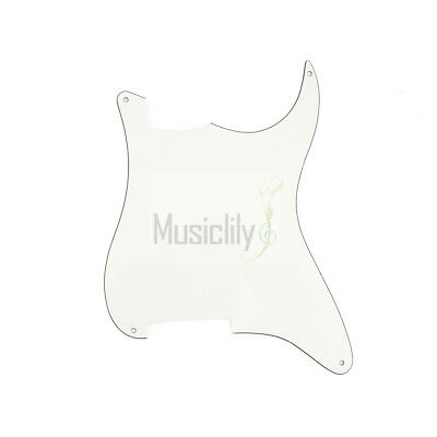Parchment 3Ply Blank Outline Pickguard Plate For  Strat Stratocaster ST Guitar