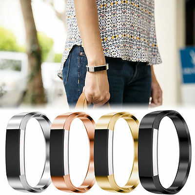 Stainless Steel Metal Jewelry Bangle Bracelet Wristband Band For Fitbit Alta