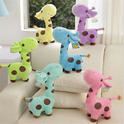 18cm Baby Kids Soft Cartoon Animal Giraffe Plush Toy Doll Deer Birthday Gift