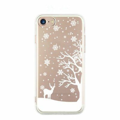 Christmas Snowflakes Reindeer Phone Case Cover For iPhone 5 S SE 6 7 Plus 8 X