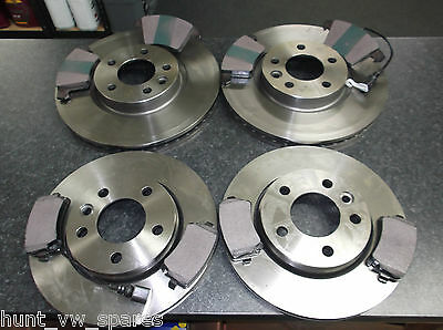VW TRANSPORTER T5 JURATEK QUALITY FRONT & REAR BRAKE DISCS & PADS 333mm / 294mm