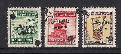 Iraq Irak used stamps - 1970 Tax Stamps, Defence Funds, T931/933, used