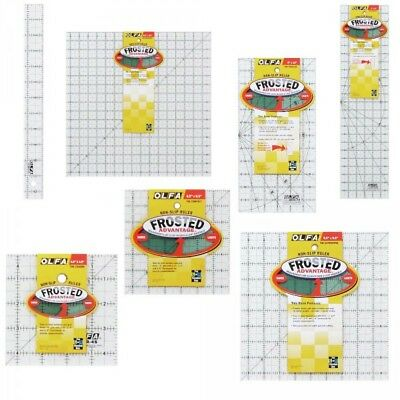 Olfa Selection Of Rulers Quilting Frosted Non Slip Sewing Patchwork