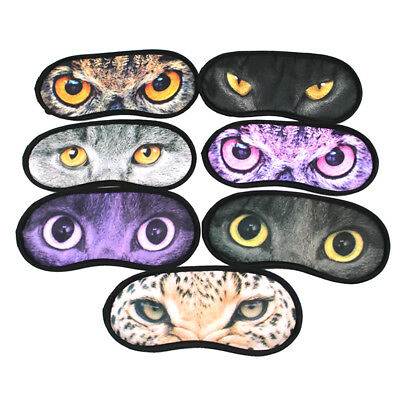 1pcs Masque Cache Yeux Repos Anti Fatigue Yeux Animal Sommeil Nuit Relaxe Voyage