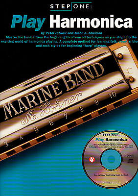 LEARN HOW TO PLAY THE DIATONIC BLUES HARMONICA Music Book & CD Mouth Organ