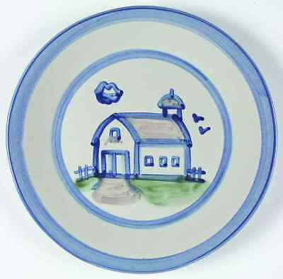 M A Hadley COUNTRY SCENE BLUE Barn Dinner Plate 5757447