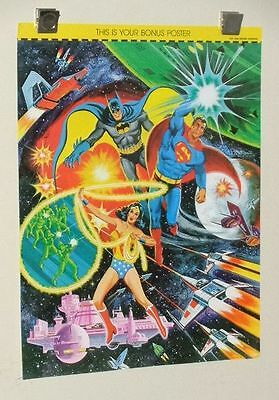 1970's Superman Batman Wonder Woman 21 by 16 DC Comics JLA poster pin-up 1: 1978