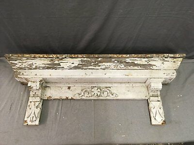 Antique Pediment Header Corbel Mantel Shelf Vtg Shabby Victorian Chic 780-17E