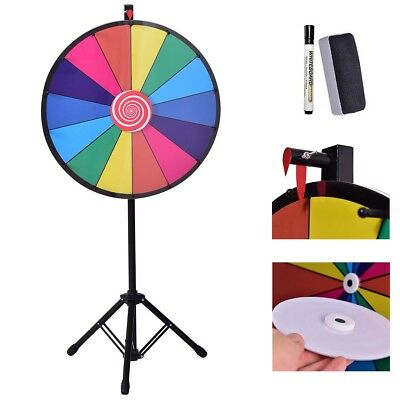 """24"""" Color Prize Wheel of Fortune Dry Erase Trade Show Game Toy Best Gift US"""