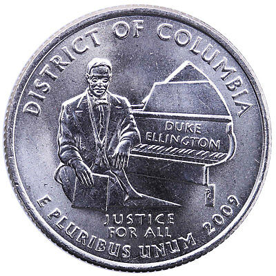 2009 D Territories Quarter District of Columbia BU CN-Clad US Coin